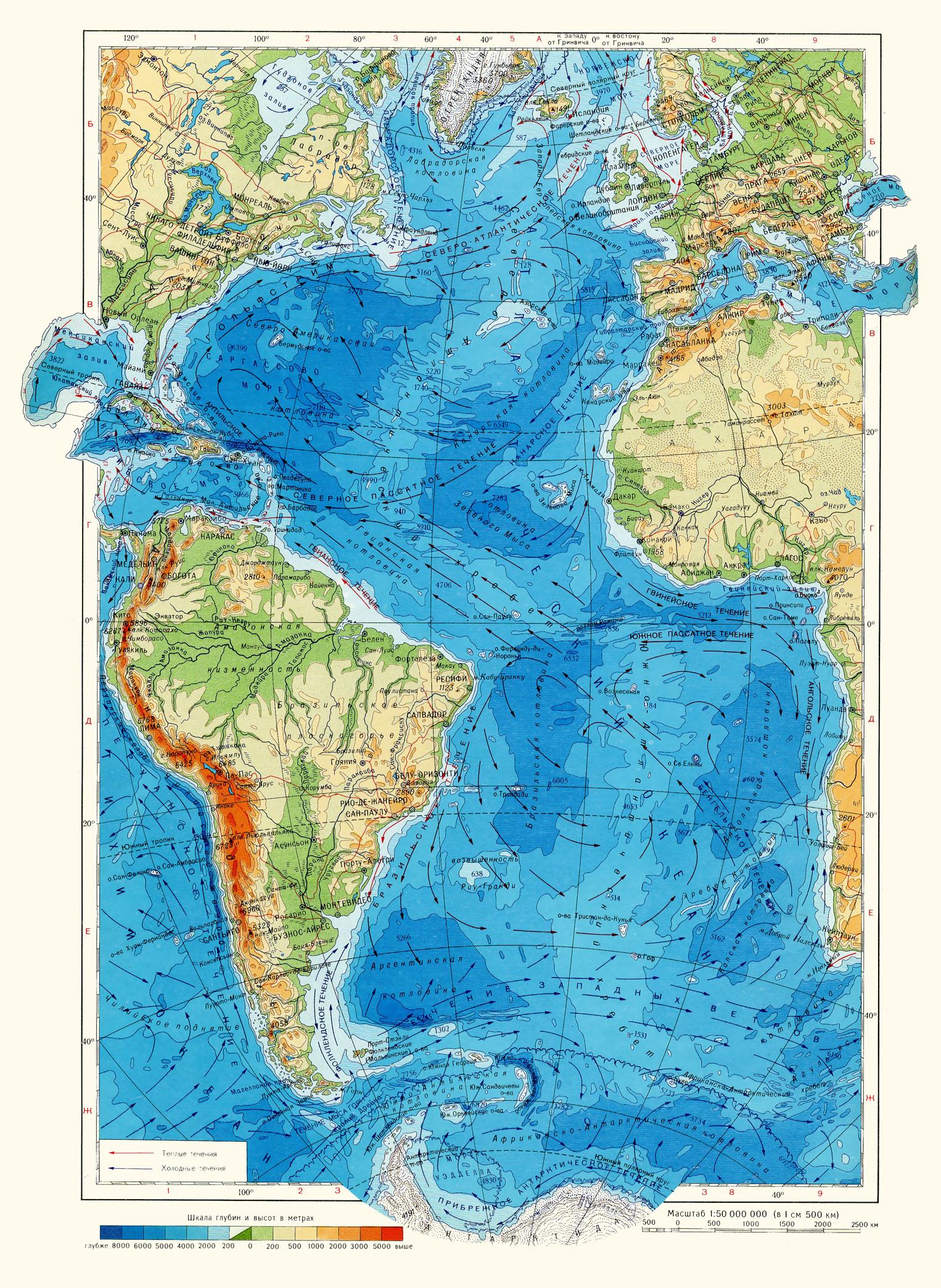 Карта моря балтийское море атлантический океан