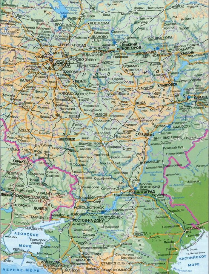 Где находится река Волга..
